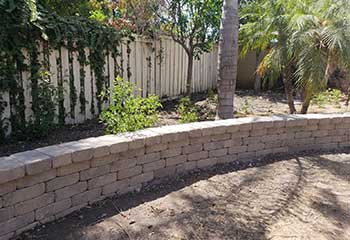 Retaining Wall Installation Close To Northwood, CA